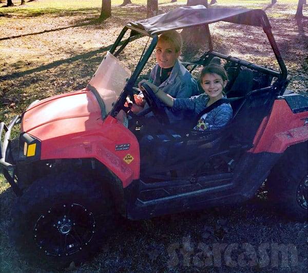Jamie Lynn Spears daughter Maddie driving ATV