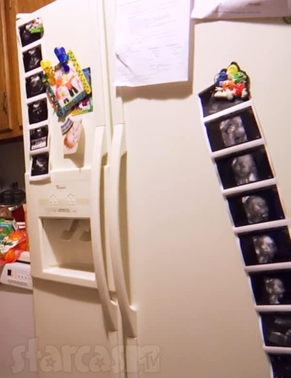 Leah Messer pregnant sonograms refrigerator