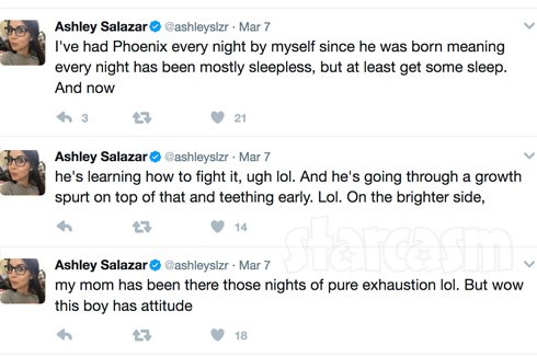 Ashley Salazar son Phoenix tweets