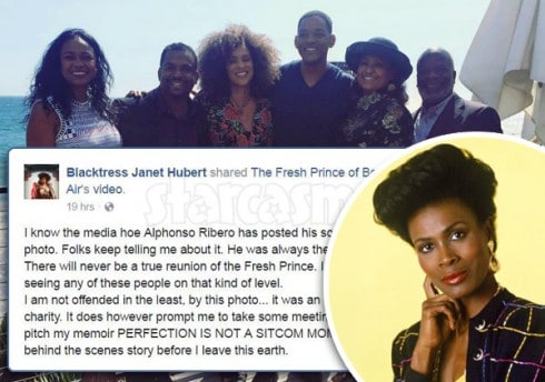 Janet Hubert Fresh Prince reunion photo reaction