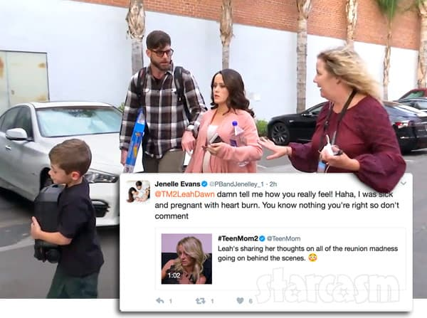 Jenelle Evans leaves Reunion sick, reacts to Leah