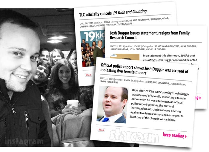 Josh Duggar scandal headlines