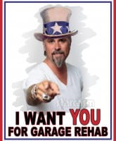 Richard Rawlings Garage Rehab Uncle Sam I Want You poster