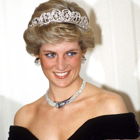 Princess Diana crown necklace