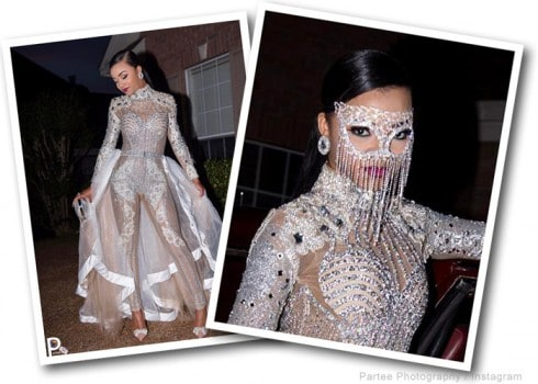 Bring It star Faith Thigpen in her prom bodysuit by Angel Brinks