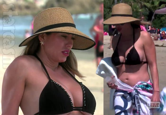 Kelly Dodd breasts bikini