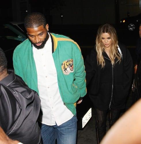 Khloe Kardashian and boyfriend Tristan Thompson grab a late night dinner at Ruth's Chris Steak House