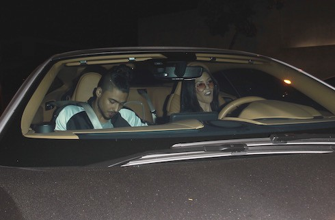 Kourtney Kardashian is seen out on a date with Quincy Brown at 'Craig's' restaurant in Los Angeles.