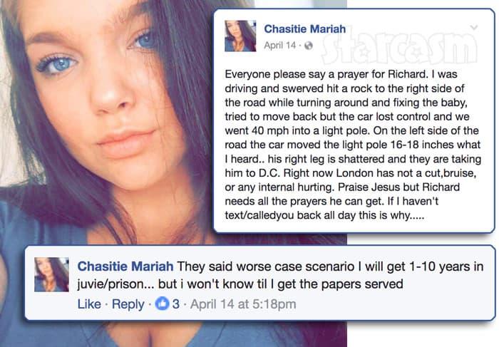 Nettie Stanley's daughter Chasitie car crash details