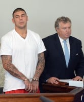 Aaron Hernandez is arraigned in Attleboro District Court, Wednesday, June 26, 2013