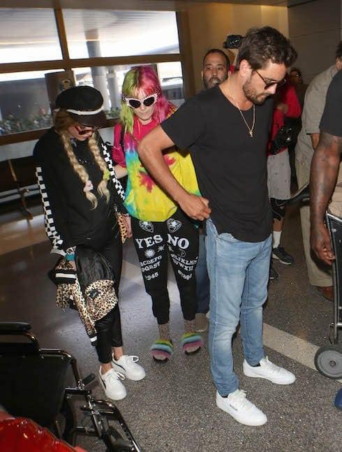 Scott Disick arrives at Los Angeles International (LAX) Airport