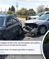Carmela and Jeremiah Raber car crash