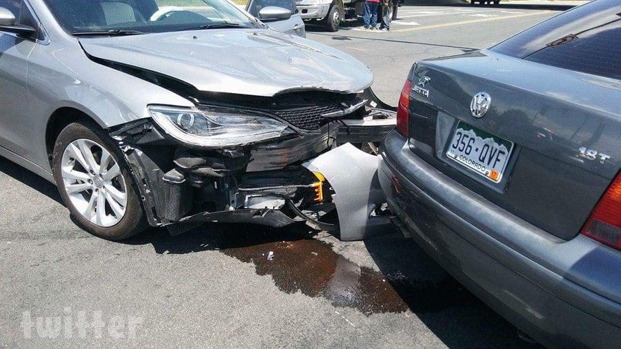 Carmela and Jeremiah Raber car accident photo