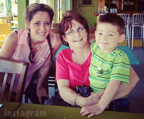 Jenelle Evans Barbara Evans and Jace together May 2013