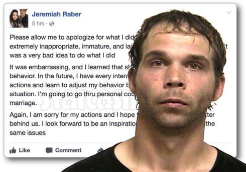 Jeremiah Raber arrest apology