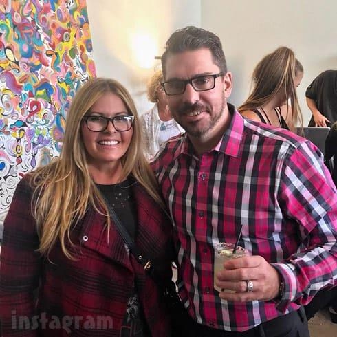 Matt Baier with Nicole Eggert from Baywatch