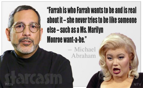 Michael Abraham Amber Portwood quote about being a Marilyn Monroe wannabe