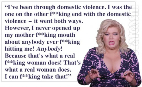 Amber Portwood domestic violence quote