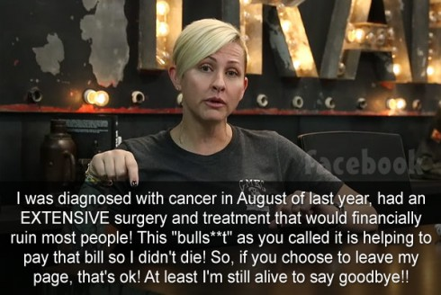Christie Brimberry Facebook posts funding cancer surgery Statement