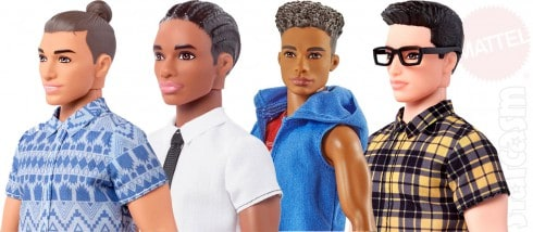 Fashionistas Ken dolls hair styles