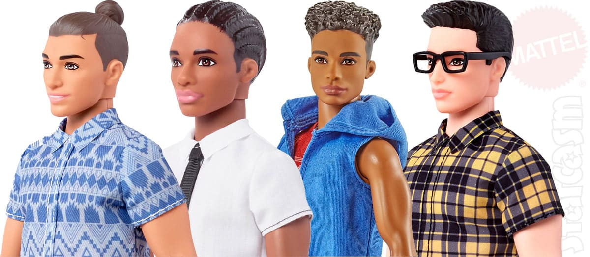 Fashionistas Ken dolls hair styles