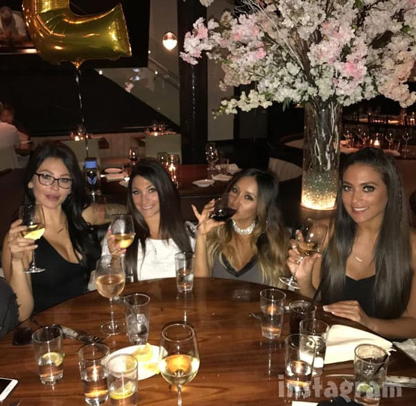Jersey Shore Reunion JWoww Deena Snooki Sammi at STK restaurant