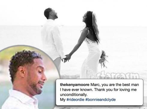 Kenya Moore husband Marc photos