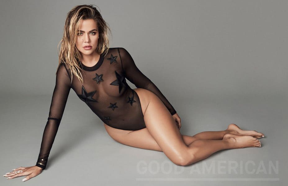 Khloe Kardashian Good American bodysuit stars
