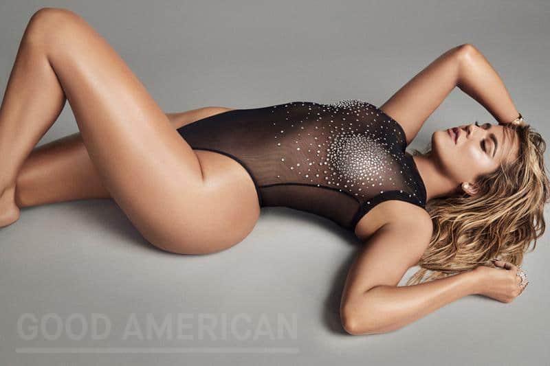 Khloe Kardashian bodysuit sheer