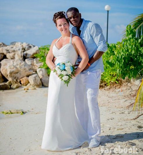 90 Day Fiance Melanie and Devar wedding photo