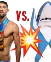 Michael Phelps versus a shark
