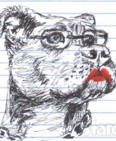 Sarah Palin pit bull with lipstick