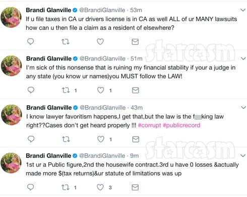 Brandi Glanville Joanna Krupa lawsuit tweets
