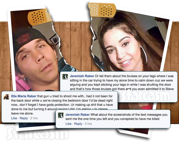 Jeremiah Raber Carmela Raber divorce fight on Facebook