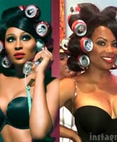 Kandi Burruss Coke can rollers like Cynthia Bailey