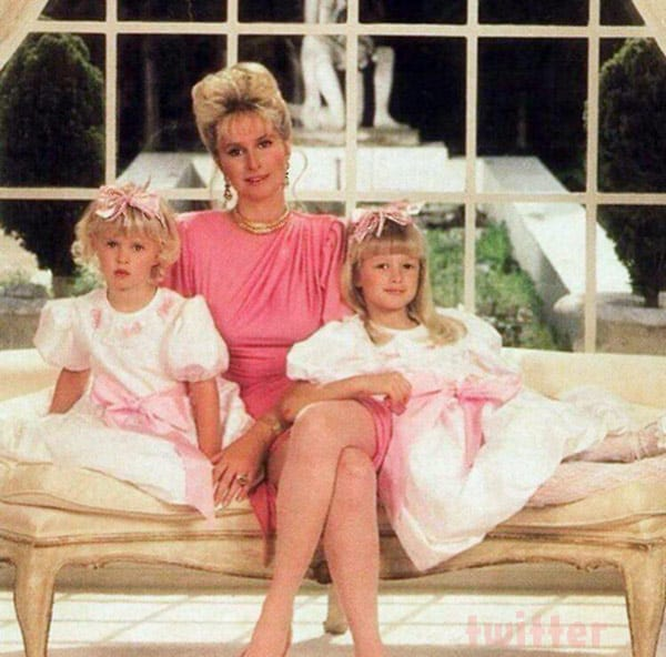 Kathy Hilton Nicky Hilton Paris Hilton throwback family photo