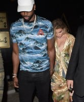Khloe Kardashian and Tristan Thompson Leave Bootsy Bellows
