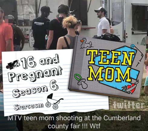 MTV filming Teen Mom at Cumberland County Fair in New Jersey?