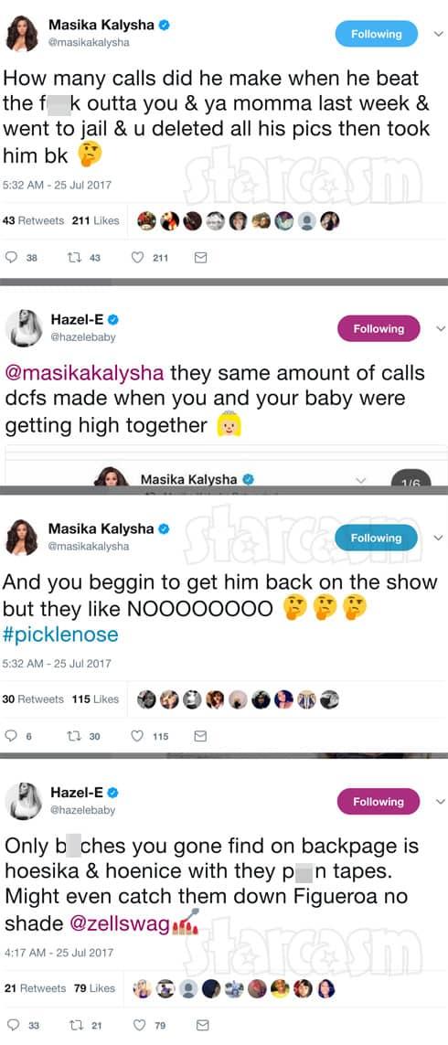 Masika Kalysha and Hazel-E tweets