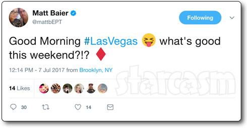 Matt Baier Las Vegas Brooklyn tweet