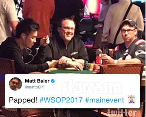 Matt Baier playing poker at The World Series of Poker Main Event