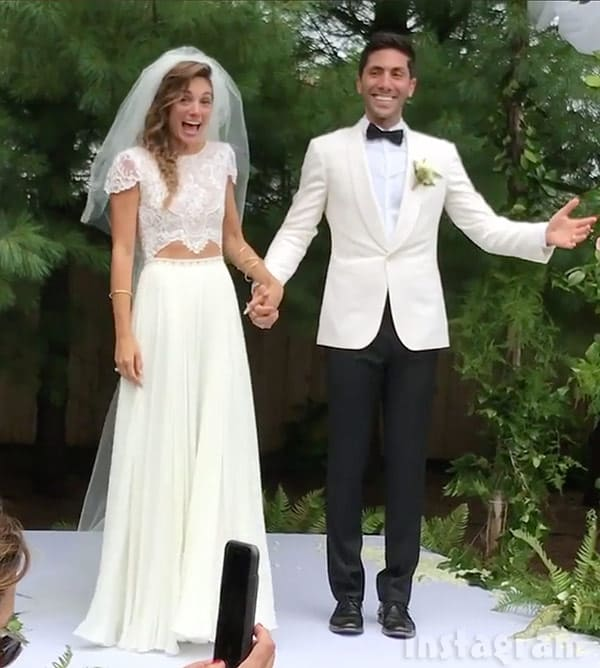 Laura Perlongo and Nev Schulman wedding photo