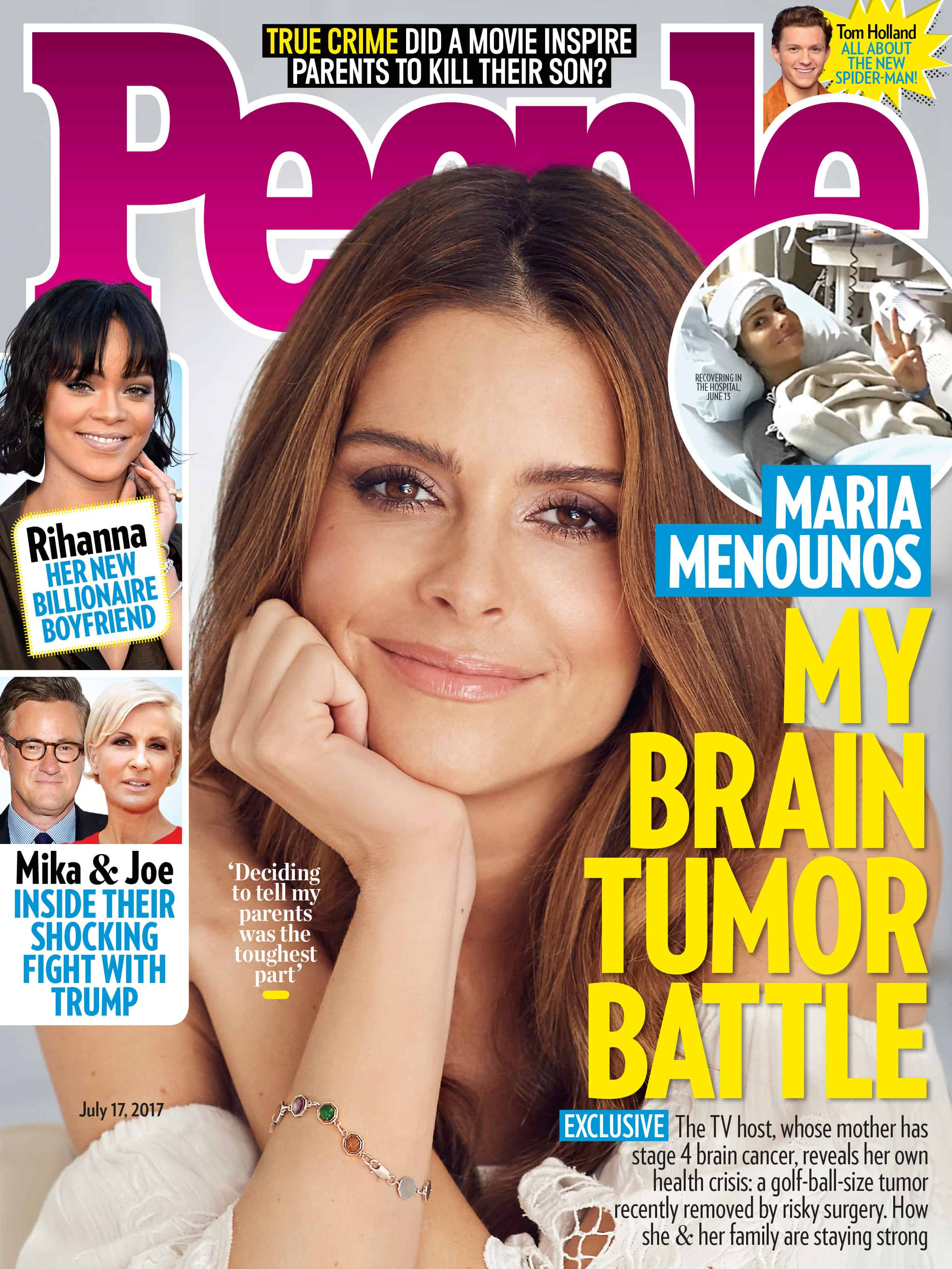 maria magazine brain menounos tumor diagnosed she reveals cancer today july battle stage removed everyone mom says starcasm issue engagement