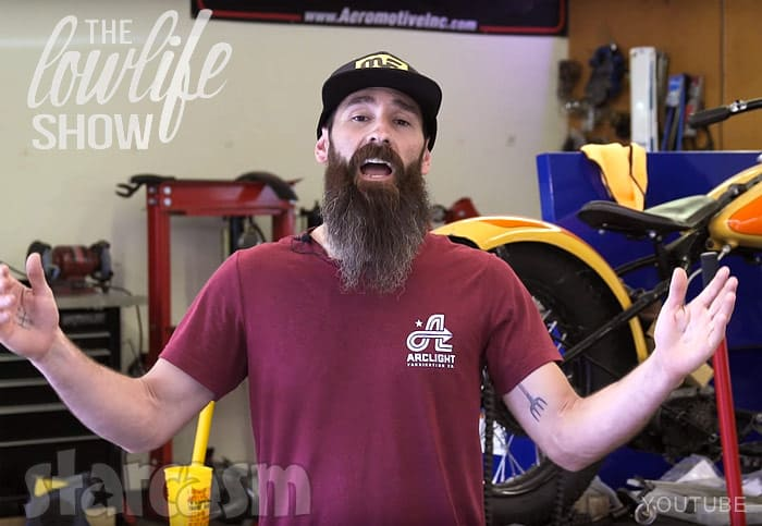 Aaron Kaufman as the host of Th Lowlife Show