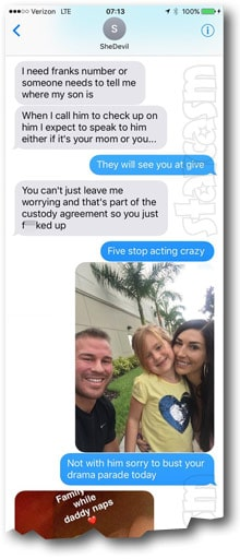 Jenelle Nathan texts - click to enlarge