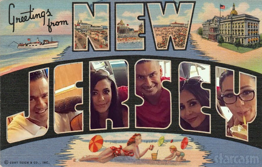 Jersey Shore Reunion Road Trip postcard