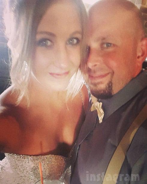 Taylor Halbur wedding photo husband Joseph Leonard