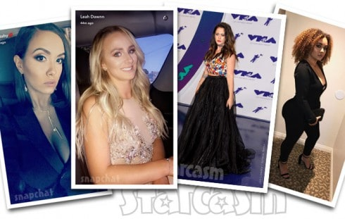 Teen Mom 2 cast at the VMAs Briana DeJesus, Leah Messer, Jenelle Evans and Brittany DeJesus