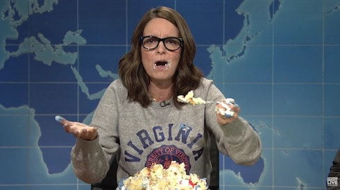VIDEO Tina Fey?s sheetcaking protest against white supremacy is a thing of furious beauty
