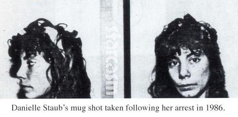 Danielle Staub mug shot photo, arrested in 1986